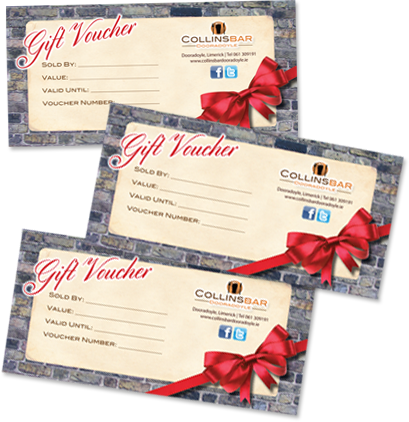 vouchers2  sc 1 st  Collins Bar Dooradoyle & Gift Vouchers - Collins Bar Dooradoyle
